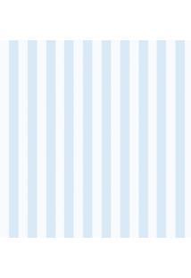 Papel De Parede Infantil Listras Branco E Azul (950X52)