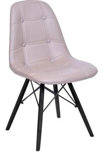 Cadeira Eames Dkr Botonãª- Fendi & Preta- 83X44X39Cm