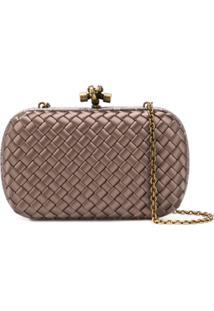 Bottega Veneta Chain Knot Shoulder Bag - Marrom