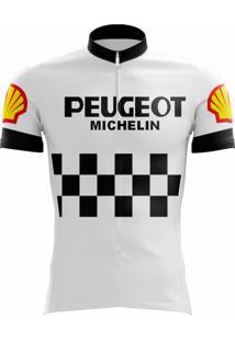 Camisa Uv Scape Peugeot Michelin Retro Branca
