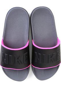 Chinelo Nike Offcourt Slide Feminino - Feminino-Cinza+Rosa