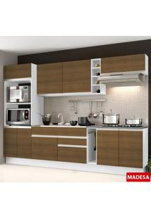 Cozinha Compacta Safira G2016 Rustic/Branco - Madesa