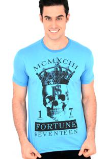 Camiseta Fortune 17 King Skull Azul