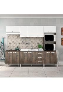 Cozinha Compacta Master Sem Tampo Cm03 Naturalle/Branco - Fellicci