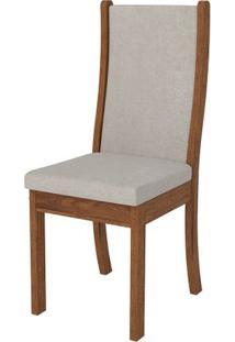 Cadeira Malta 2 Peças - Rústico Terrara Com Pena Bege