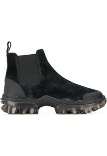Moncler Panelled Ankle Boots - Preto