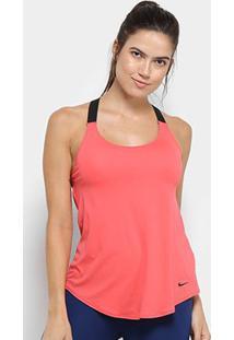 Camiseta Regata Nike Dry Tank Elastika Feminina - Feminino-Rosa