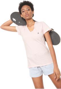 Camiseta Volcom Stone Rosa