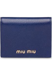 Miu Miu Carteira Com Estampa De Lagarto - Azul