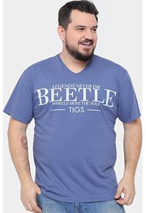 Camiseta Tigs Plus Size Beetle Masculina - Masculino