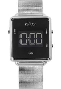 Relógio Condor Digital Trendy Cobjf156Ae/3K Feminino - Feminino-Prata