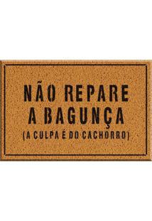 Capacho De Vinil Não Repare Na Bagunça Amarelo Único Love Decor
