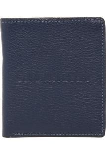 Carteira Couro Calvin Klein Jeans Logo Azul-Marinho