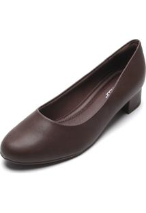 Scarpin Piccadilly Liso Marrom
