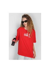 Camiseta Coca-Cola Jeans Ok Vermelha