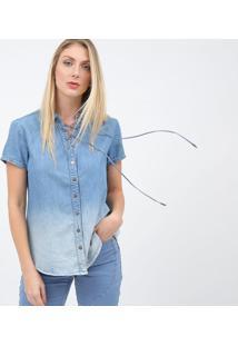 Camisa Com Ilhã³S - Azul Claroscalon