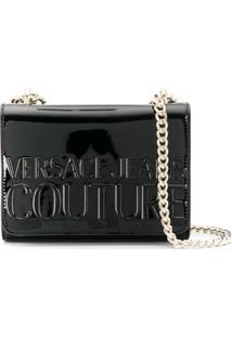 Versace Jeans Couture Bolsa Com Logo Gravado - Preto