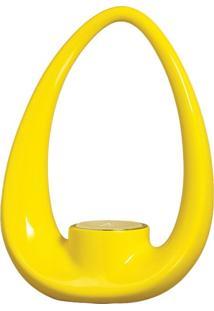 Porta Vela Com Tubo Amarelo Com Vela