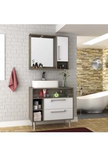 Conjunto Para Banheiro Luise Tweed E Branco
