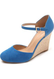 Sandália Dafiti Shoes Anabela Azul