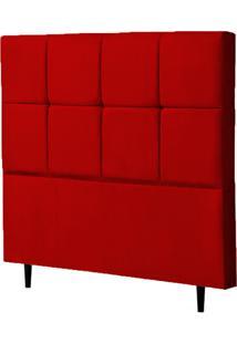 Cabeceira Solteiro Roma 90Cm Para Cama Box Suede Vermelho - Ds Mã³Veis - Vermelho - Dafiti