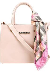 Bolsa Petite Jolie Shopper Stella Bag Feminina - Feminino-Bege+Verde
