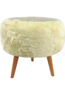 Puff Fur Off White E Natural
