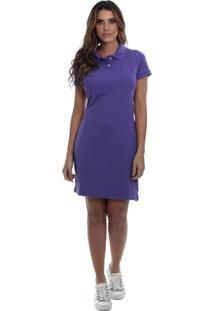 Vestido Polo Piquet Javali Violeta