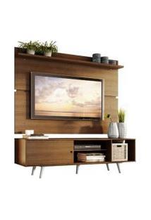 Rack Madesa Dubai E Painel Para Tv Até 65 Polegadas Com Pés Rustic/Branco