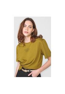 Camiseta Colcci Serendipity Verde