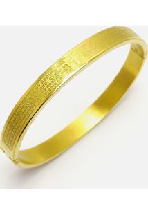 Pulseira Kodo Acessórios Bracelete Pai Nosso Dourado