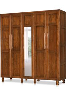Guarda-Roupa Casal Com Espelho Qatar 5 Pt 2 Gv Castanho