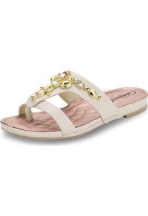 Sandália Feminina Flat Campesi - L6331 Bege 34