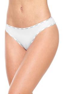a28516cd1 ... Calcinha Calvin Klein Underwear Tanga Logo Branca
