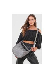 Bolsa Transversal Shoulder Bag Majestic Prata