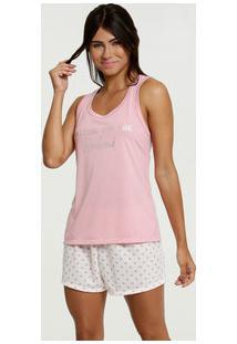Pijama Feminino Nadador Estampa Bolinhas Marisa