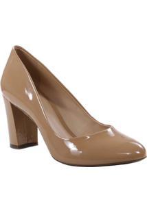 Sapato Tradicional Envernizado- Nude- Salto: 7,8Cmarezzo & Co.