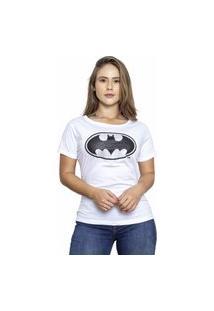 Camiseta Sideway Batman Logo - Branca
