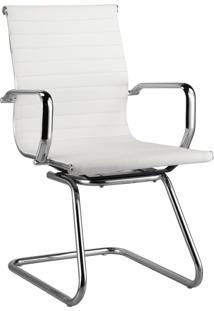 Cadeira Office Sevilha Fixa Baixa Branca Rivatti Móveis
