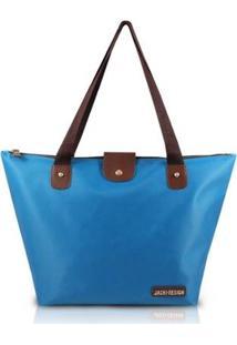 Bolsa Dobrável Jacki Design Microfibra - Feminino-Azul