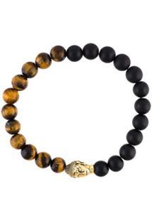 Nialaya Jewelry Pulseira Com Pedraria - Marrom