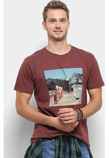 Camiseta Reserva Estampada Oil Masculina - Masculino-Bordô
