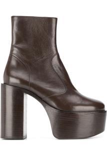 Simon Miller Ankle Boot Com Plataforma - Marrom