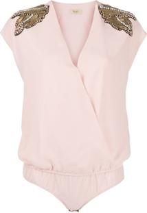 Liu Jo Embellished Shoulder Body - Rosa