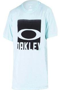 Camiseta Oakley Cut Mark Tee Masculina - Masculino-Azul