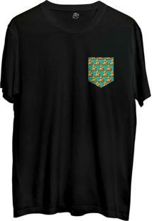 Camiseta Bsc Pizza Poa Pocket Sublimada Preto