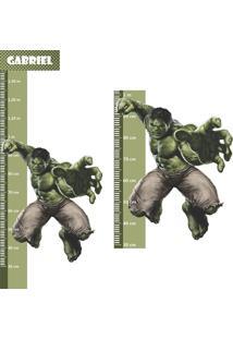 Adesivo Régua De Crescimento Hulk