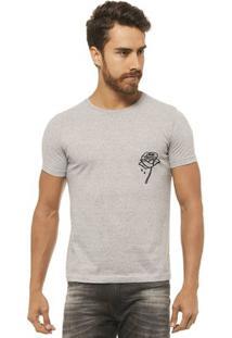 Camiseta Joss - Roses - Masculina - Masculino-Mescla