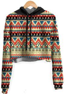 Blusa Cropped Moletom Feminina Tribal Africana Md01 - Kanui