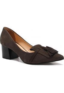 Sapato Scarpin Zariff Shoes Barbicacho Cinza